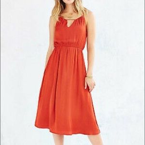 Alice and urban outfitters satin midi dress